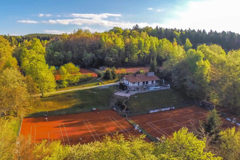 TC Ebersberg Clubanlage Luftaufnahme
